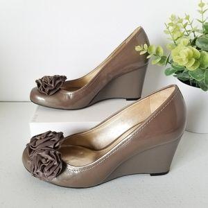 Antonio Melani Tan Wedge Shoes